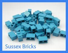 LEGO - 50x Medium Blue Brick 1x2 3004 PEZZI-NUOVO