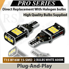 Pair Bulbs T15 W16W Reverse LED Cree White 6000K Canbus VW Passat B7 2010-2014