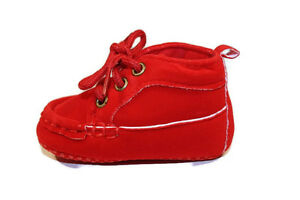 Girl Boy Infant Toddler Baby Shoes Brown/ Red Cute formal different size