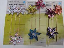 9 x Colourful GARDEN WINDMILLS on Sticks Flower Bed Plant Pot Ornament