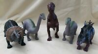 Lot of 5 Plastic Dinosaur Dinosaurs Lucky Star Toys