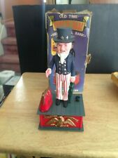 Uncle Sam Vintage Mechanical Money Coin Piggy Bank Statue USA America Replica