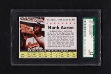 1961 Post Cereal #107 Hank Aaron Braves SGC 92 Nm/Mt+ 8.5