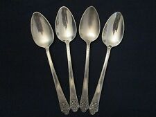 Set 4 Tea Spoons! Vintage Rogers silverplate: Precious pattern: Excellent!