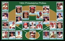 1964 PHILADELPHIA PHILLIES Custom Baseball Card POSTER Decor Fan Xmas Gift 64