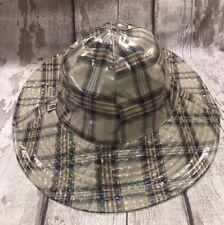 BELSTAFF BROWN CHECK RAIN CAP / HAT 100% GENUINE BNWT - SIZE SMALL