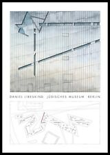 Daniel Libeskind ebraiche Berlino Museo d'Arte Poster pressione nel telaio in alluminio 100x70cm