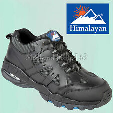 Puntera De Acero Tapa De Cuero Negro Entrenador Estilo Zapatos De Seguridad. Sneaker Plimsoll Botas