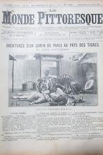 Le Monde Malerisches Nr. 144 von 1885 Burma Aventures Zum Pays der Tigers
