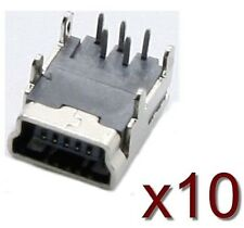 10x connecteur à souder USB mini B / 10 pcs solder connector female SMD Socket