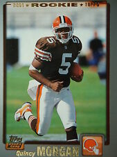 NFL 315 Quincy Morgan Cleveland Browns Topps 2001 Rookie