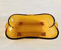 Bernstein Fenne Farbe Gelb Art Déco Schale Pressglas Antik Glasschale Nestor