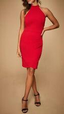Nuevo Lipsy @ Siguiente Talla 12 Rojo Cabestro Cuello Espalda Abierta Vestido Ceñido al cuerpo de Fiesta Cóctel