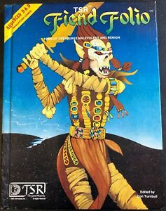 TSR Fiend Folio Advanced Dungeons & Dragons Role Playing Game Creatures Book