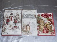 CHRISTMAS CARD  MAM AND DAD CUTE TRADITIONAL PARENTS MUM AND DAD COUPLE