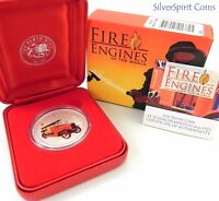 2006 FIRE ENGINES OF THE WORLD 1923 LF 15 Loschfahrzeug Silver Proof Coin