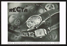 1940's Vintage 1945 Recta Watch Co. Watches - Paper Print AD
