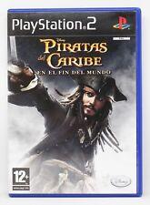 PIRATAS DEL CARIBE EN EL FIN DEL MUNDO PLAYSTATION 2 PS2 PLAY STATION PAL ESPAÑA