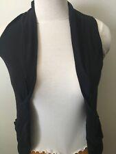 open front cardigan black sweater Short Sleeve lightweight summer cardigan Small