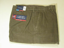 40 X 34 EXPANDABLE WAIST FLAT FRONT CROFT & BARROW CORDS -TAN- NWT