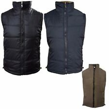 Mens 2sided Bodywarmer Padded Quilted Gilet Fleece Lined Body Warmer Coat M-3XL