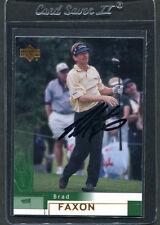2002 Upper Deck Golf Brad Faxon #20 Signed Autograph