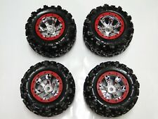 NEW TRAXXAS SUMMIT 1/10 Wheels & Tires Red Geode RM25R