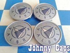 VALBREM Wheels SILVER Center Cap # N/A. BLANK  Custom Center Caps (SET of 4)