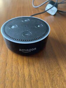 Black Amazon Echo Dot 1st Generation w/ USB Cable and OEM Amazon Hub