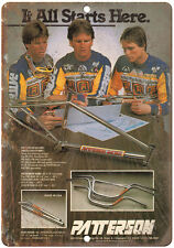 """Patterson BMX Bicycle Motocross - 10"""" x 7"""" Metal Sign Vintage Look Reproduction"""