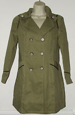 "Ladies Size 8-10 Military Style Light Khaki Coat Bust 34"""
