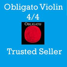 Pirastro Obligato Violin D  String  4/4  Silver --Weich