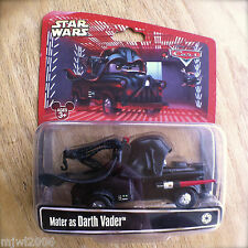 Disney PIXAR Cars STAR WARS Mater as DARTH VADER diecast RARE Disney Parks