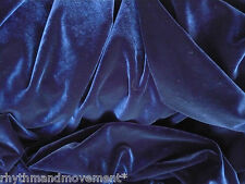 Dance Costume Fabric Dark Navy Blue STRETCH VELVET 50cm X 150cm wide