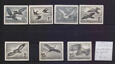 !  Austria 1950-1953.  Air Mail In Black Stamp. MI#A54/60. €300.00 !