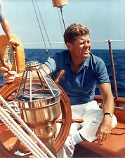 COLLECTIBLE President John F. Kennedy Yachting 8 X 10 photo