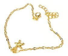 Bijoux-Bracelet de Cheville,Femme,Acier-Cuivre Doré,Chaîne Fine,Tendance,Mode