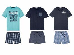 Livergy Herren Sommer Pyjama Schlafanzug Shorty Shirt Schlafhose Gr. M / XXL NEU