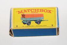 Matchbox Serie 1-75 No. 2 - Mercedes Trailer - nur die originale Box !!!
