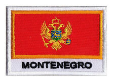 Ecusson patche patch pays nation MONTENEGRO Monténégro 70 x 45mm  à coudre