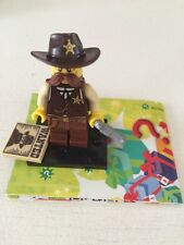 Lego Minifigure Series 13 Sheriff  NEW Open with Unused Online Code