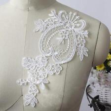 Corded Embroidery Lace Applique Bridal Lace Trim Wedding Lace Motif 1 Pair