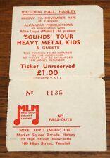 HEAVY METAL KIDS ORIGINAL HANLEY CONCERT TICKET 1975 GARY HOLTON