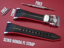Seiko honda f1 sportura bande bracelet caoutchouc pour 7t62-0gr0 sna749 4kz5jz 7t62-ogro