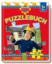 Puzzlebuch FEUERWEHRMANN SAM Buch und 4 Puzzle Spiel  ab 3 Jahre Feuerwehr