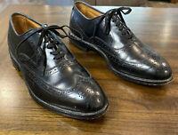 Allen Edmonds #1903 Chester Wingtip Oxford In Black Calf  9 D Made In The USA