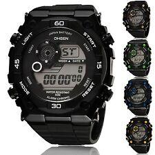 Reloj Deportivo Digital trabajo OHSEN Hombres Alarma Cronógrafo Reloj De Prueba De Golpes Y Agua