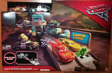 Disney Pixar Cars 3 Flo's V8 Cafe Dragstrip Track Playset with Mcqueen & Sheriff