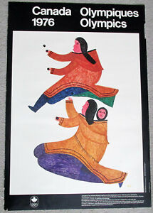 1976 Montreal Canada Winter Olympics POSTER by Lee w Inuit Mother & Child