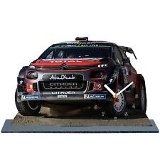 LOEB , Rally WRC Mexico 2018, Citroen C3 WRC, Reloj en modela miniatura 01